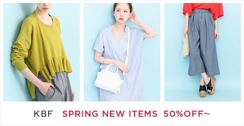KBF SPRING NEW ITEMS  50%OFF~