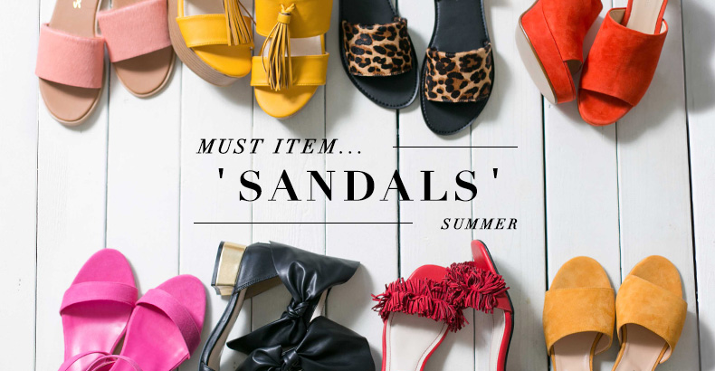 SUMMER MUST ITEM...  'SANDALS'